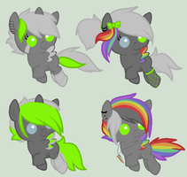 Cyber x Unknown Foals by xXcatdragon-adoptXx