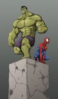 Hulk and spidey by Anny-D