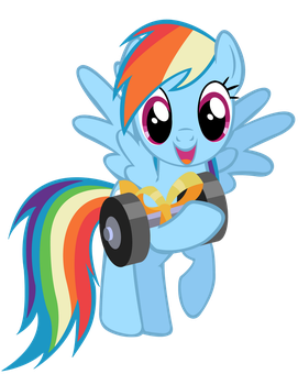 Rainbow Dash gift vector. by MasterRottweiler