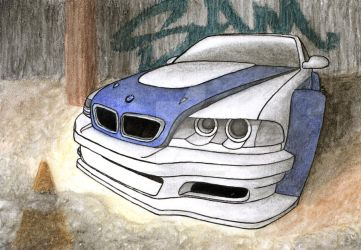 NFS MW BMW M3 GTR by Samantha-dragon