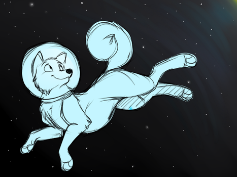 WIP pup in space by CReePerDawnfall