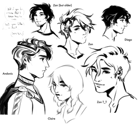 Sketches I made before my wrist died by R0BUTT