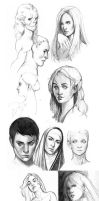 Sketches compilation by mannequin-atelier