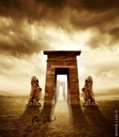 The guardians of an ancient gate by dilarosa