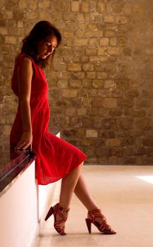 Red Shoes Morning Light by DaveAyerstDavies