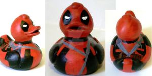 Deadpool Duck by BlueSaltwaterTaffy