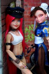 Poison - Final Fight, Street Fighter custom doll. by cimmerianwillow