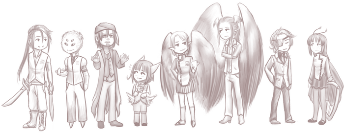 PC-A :: Random Chibis by Hades-Mind