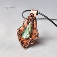OOAK wire wrapped Labradorite pendant by artual