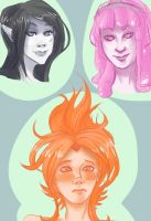 Adventure Time Sketches by TheDeepestKing
