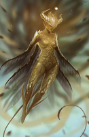 Golden Fairy by telthona