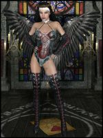 Goetia Girls: Succubus Witch Nun Mephistophina III by GHOSTCROW1
