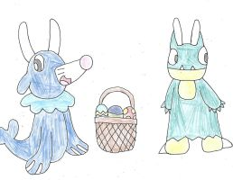 Happy Easter from Popplio and Munchlax