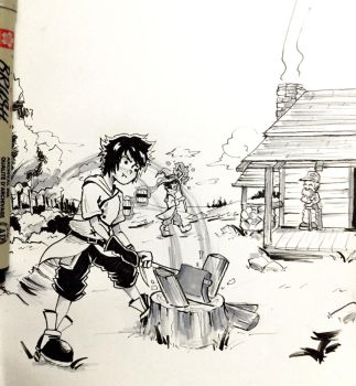 Day 9: Side Quests 1 - Inktober 2017 by Jhincx-Faust