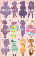 Sugar Girls! ADOPTABLES BATCH! O P E N by Hashiero