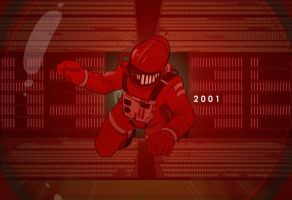 2001: A Space Odyssey by cheshirecatart
