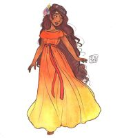 Character Design: Persephone (goddess of spring) by fdevita