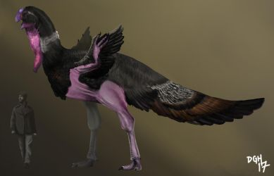 Gigantoraptor erlianensis (Updated) by DanneArt