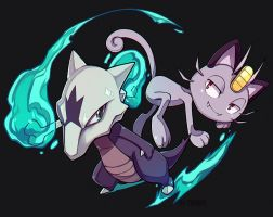 PKMN - Marowak and Meowth Alola ver.