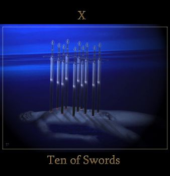 Ten of Swords by Vinyariel