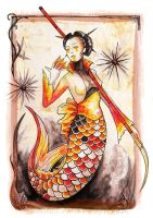 Maidens of the Seven Seas - Koi Mermaid from Japan by Grunnet