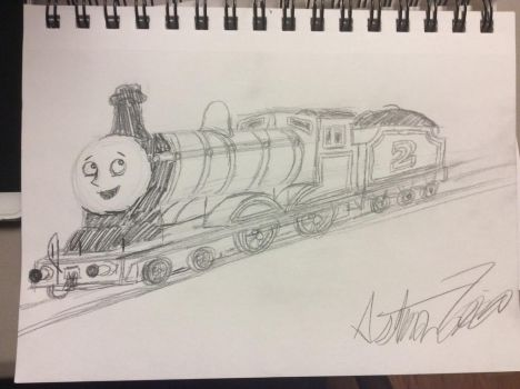 Edward the Blue Engine Sketch by doctorwhooves253