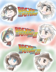 BTTF Trilogy Chibi by Carro-chan
