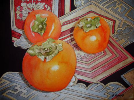 Persimmons by p-e-a-k
