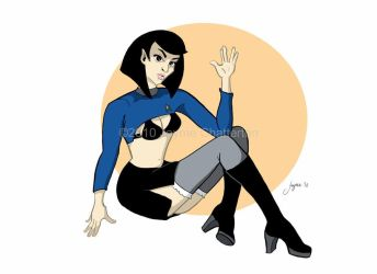 Lady Spock Pinup by crayonseatflesh