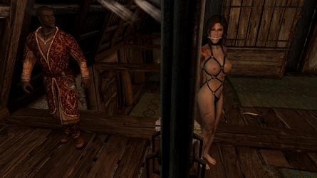 Skyrim SE - Lara Croft Captured 2 by m7seven