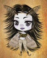 Sketchy chibi commission - Zmora by Solceress