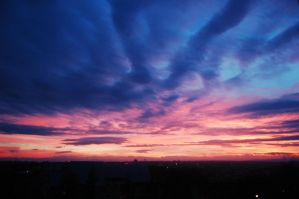 Sunset over Suceava by martzianu