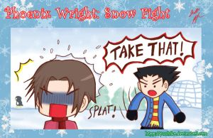 Phoenix Wright: Snow Fight by Yuuhiko