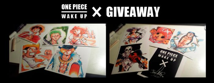 G I V E A W A Y ! ! - One Piece x Wake Up by Isara-La