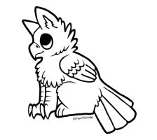 Free Gryphon Lineart by ForestGlade