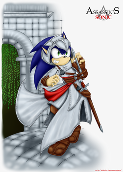 Gif: Assassin's Sonic by Midowko