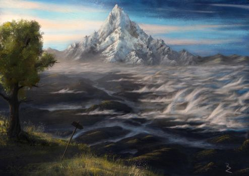 Way to the Lonely Mountain - Erebor by Crocorax