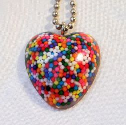 Sweeter than candy resin heart by wickedgems