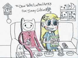 Movie Night with Finn and Star by CelmationPrince