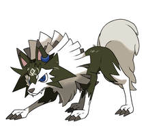 Lycanroc true twilight form by DiAdantist