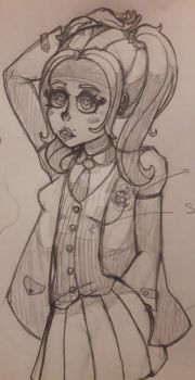 A quick sketch of one of my VN characters: Nieves by SterkiHerz