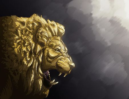 Lion 2 by NickRileyArt