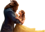 Belle and Beast-Beauty and the Beast 2017 PNG by nickelbackloverxoxox
