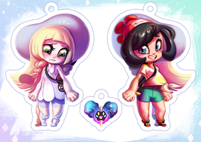 Lillie and Moon Charms by Qesque