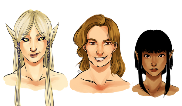 Dungeon characters by EnaraB