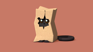 Cat in box by ProduktBaum