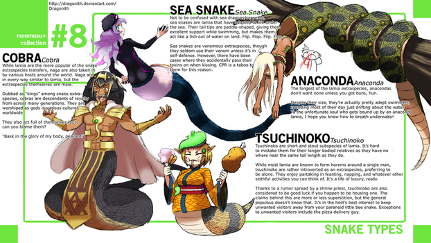 Monster Musume+: Snake Species by Dragonith