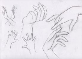 Let's Draw... Hands! Sketch Batch 2 by ashesto