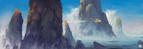 Flight between the rocks by Reicheran