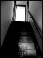 Dark stairs to the light by bezman